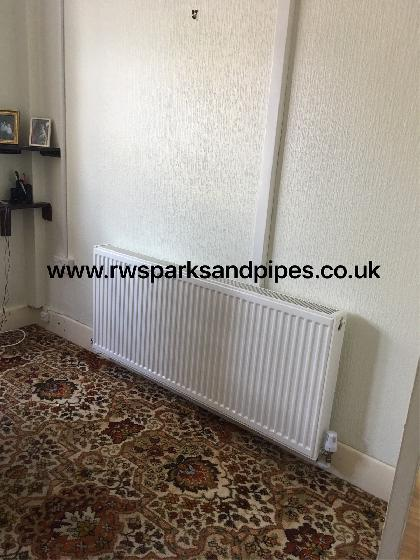 New large radiator fitted to a rather cold house