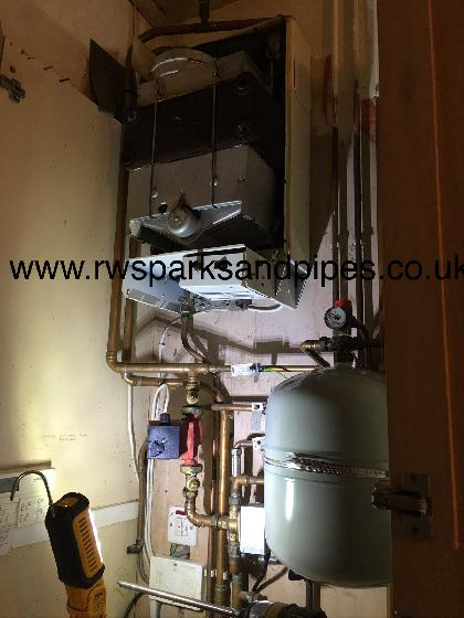 Servicing and repairing this boiler today